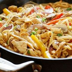 Cajun Chicken Pasta, on the Lighter Side- a low-fat, high protein pasta dish with lots of spicy Cajun flavor.
