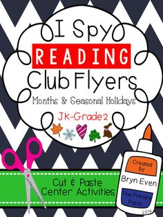 Put your extra Scholastic Reading Club™ flyers to good use in this fun cut and paste center activity! Students work on their reading skills while searching for seasonal items using magazines or flyers that you provide. Included are thematic pages for the months of September to June.