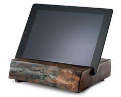 Reclaimed Wood iPad Stand