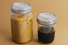 Coppow Plastic drinking lids for mason jars.