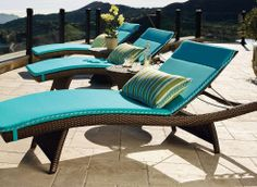 Our Frontgate Balencia Bronze Sun Chaises invokes the languid elegance of a coastal French resort town.