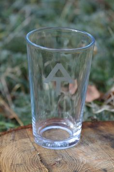 Etched Appalachian Trail Logo Pint Glass. $8.00, via Etsy.