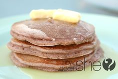 Cinnamon Bun Pancakes = YUM! #pancakes #howdoesshe
