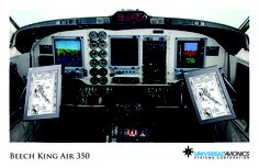 """Universal Avionics: Beech King Air 350 - (1) Display Suite: 3 EFI-890R 8.9"""" Flat Panel Displays; (2) Situational Awareness: 1 Vision-1 Synthetic Vision System, 1 Terrain Awareness and Warning System (TAWS), 2 Application Server Units (ASU) for Jeppesen charts, checklists, weather and E-DOCS; (3) Flight Management: 2 UNS-1Fw FMSs with 5"""" CDUs; (4) Radio Tuning and Communications: 2 Radio Control Units (RCU), 1 UniLink UL-701 Communications Management Unit (CMU)"""