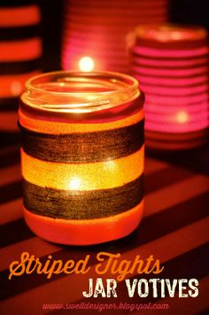 The Swell Life: 5-minute Striped Tights Jar Votives
