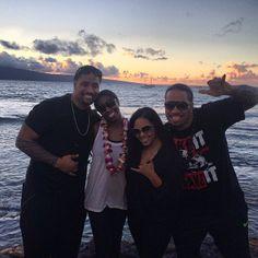 Jon Fatu, Trinity McCray, Josh Fatu, & Josh's girlfriend in Hawaii