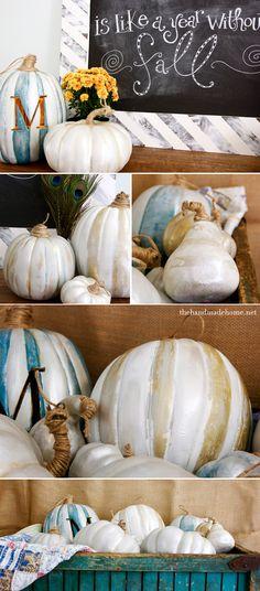 DIY_metallic_pumpkins - The Handmade Home