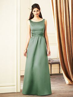 Alfred Angelo Bridesmaid Style 7268L in Clover