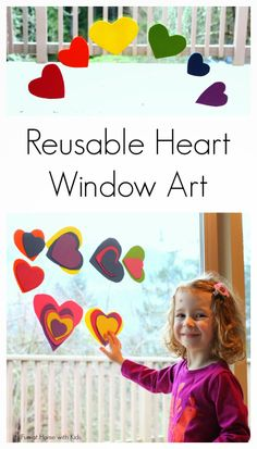 Make your own reusable heart window or bath art set - total cost around one dollar!  From Fun at Home with Kids
