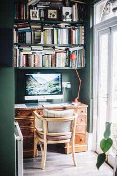 office spaces, office nook, book, desk, computer nook, workspac