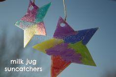 milk jug suncatchers (only two supplies) - happy hooligans
