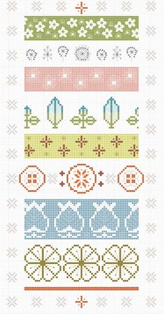 Vintage Pyrex Patterns Cross-Stitch Chart