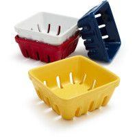 Ceramic Berry Baskets at Sur La Table - only $2.50 each!