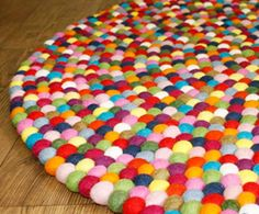 doors, pinocchio, felt ball, balls, multicolour felt, make a room, ball rug, rugs, nepal