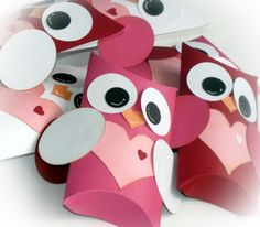 Kit Owl Pillow Treat Boxes Hearts Valentine's Day DIY 12 qty | BippityBoppityGlue - Seasonal on ArtFire