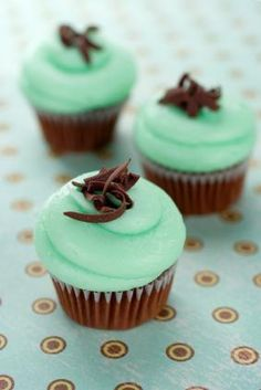 love these chocolate cupcakes with mint icing!
