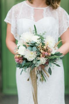 bouquet with eucalyp
