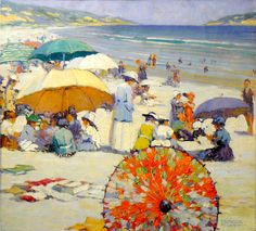milton grant, grant american, 1917, sea, freder milton, red parasol