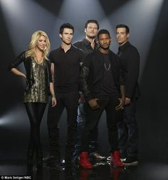 What a line-up: The Voice season four promises to be quite a ride with newcomers Shakira and Usher joining series regulars Adam Levine, Blake Shelton and Carson Daly