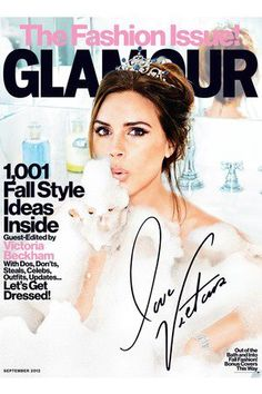 Glamour Magazine - September @Victoria Beckham