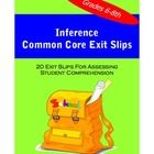 These exit slips are aligned to Common Core Standards RL.1 and RI.1. They are a convenient way to quickly assess student understanding of English L...