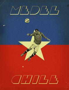 World Cup 2014 - Each Country's Fan Favourite by Jon Rogers, via Behance
