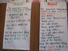 Teaching about Honest and Respect...i like these for teaching any character trait