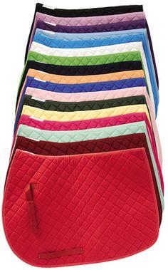 TuffRider Horse Basic Saddle Pad. Pony, Horse or Dressage Size. Assorted Colors.