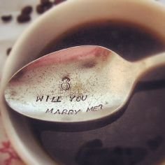 wedding photography, proposal ideas, spoons, wedding photos, wedding proposals, tea, cup of coffee, cream, marriage proposals