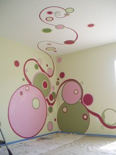 This could be so fun! little girls, murals girls room, paint idea, kids room mural, big girl rooms, murals for kids rooms, little girl rooms, kid room, fun ideas for a girls room