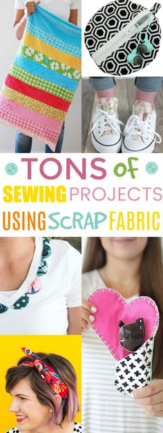 These  scrap fabric sewing projects are all beginner sewing ideas that will  help you use up those scraps you have left over, making room for more fabric in  your stash. Win-win. . #sewing #sewingideas #sewingprojects  #easysewingideas #sewingprojectsforbeginners #sewingforbeginners  #sewingprojectsforteens #easysewingideas