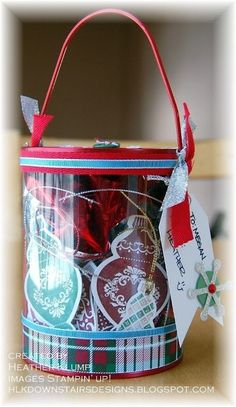 Christmas Tags - cute way to package tags for a show