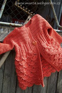 Incredibly beautiful crocheted baby cardigan to use as inspiration..can't find a pattern.  Anyone?