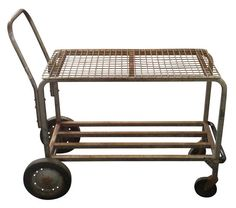 Vintage Industrial Shopping Cart - would make a great bar cart, just add glass