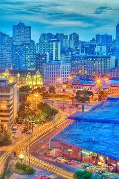 Vista Central de Porto Alegre  Brasil