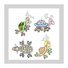 Dandelion Soup...Skating Turtles....Shower by ShowerCurtainBling, $14.95