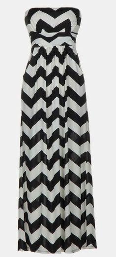 Chevron Maxi Dress //