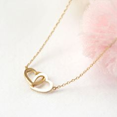 Two Open Hearts Necklace