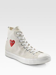 Comme des Garcons High-Top Canvas Sneakers    So cute?