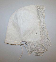 French 18th Century  Linen Cap