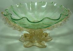 Murano Dolphin Centerpiece/Compote Bowl – Circa: 1880 to 1900