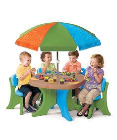 Kids' Patio Table & Umbrella Set