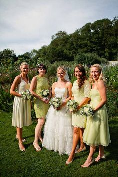 yellow bridesmaid dresses, image by www.kristyfield.c...