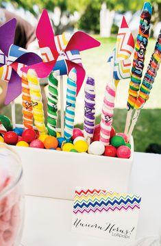 Vibrant Rainbow Unicorn Party {Adult Birthday} // Hostess with the Mostess®