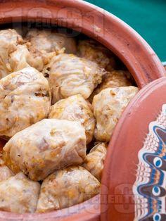 Постни зелеви сарми в глинен съд - снимка на рецептата