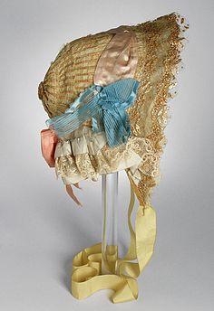 Bonnet,  1840-75, Sweden, Stockholm.