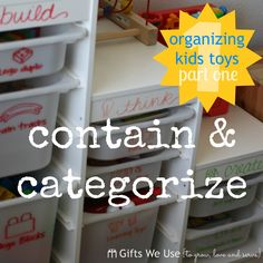 Gifts We Use: Organizing Kids Toys So Mom Can Stay Sane {Part 1}