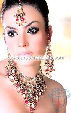 Style DRJ1033, Product code: DRJ1033, by www.dressrepublic.com - Keywords: Kundan Jewellery Online Shop Wembley, UK, Kundan Jewellers UK