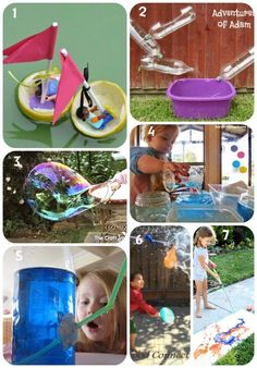 7 days of Water Play. Inside and outside activities.