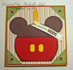 Stampin' Up!  Punch Art  Michelle Suit  Mickey Candy Apple
